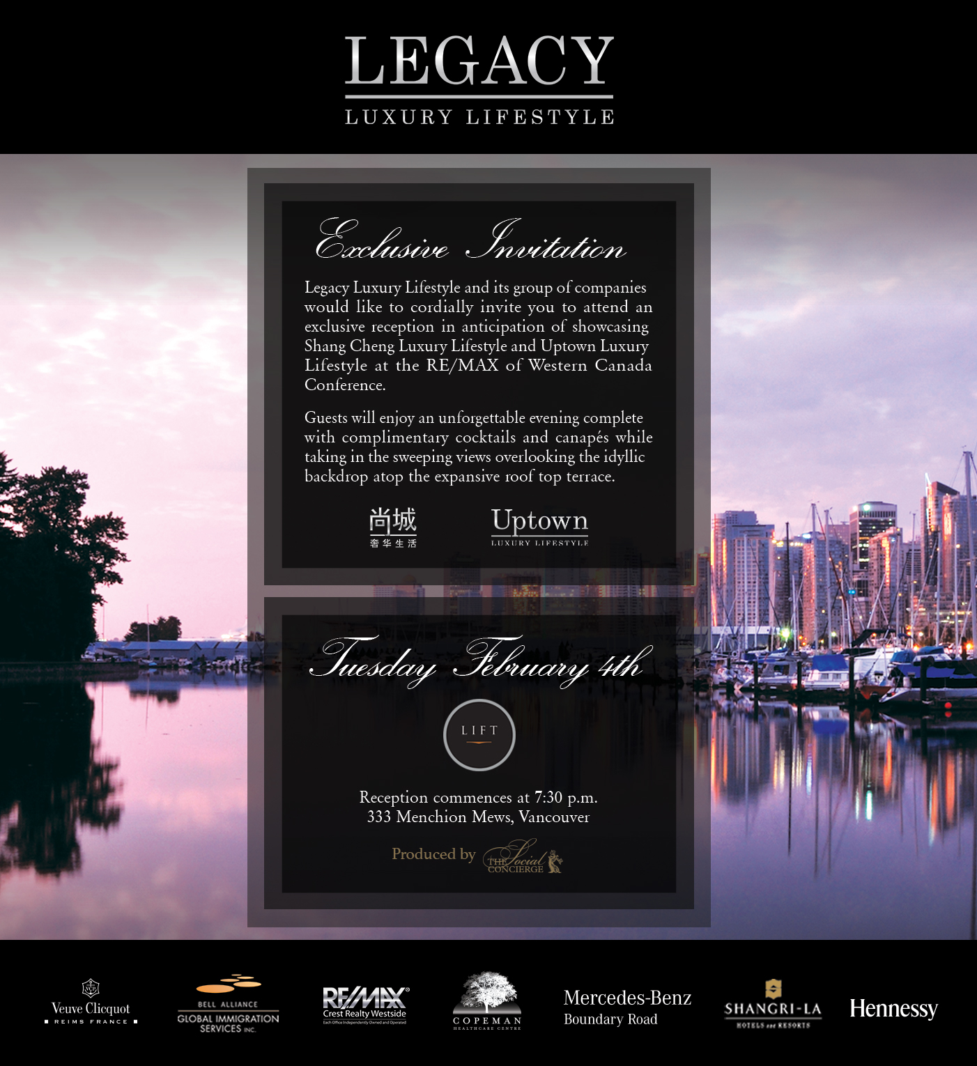 Legacy Luxury Lifestyle and its group of companies - Exclusive Invitation